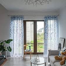 transparent vorhang willow pattern voile curtains moderne glatte blumen vorhang gardinen tüll fenster voile drapieren valance für