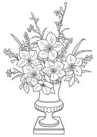 Spring Bouquet Coloring Page Download Lily Flowers To Color