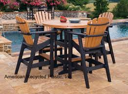 patio furniture recycled plastic bar tables and stools
