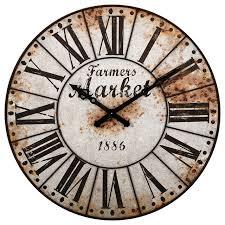 Farmers Market Oversized Wall Clock Farmhouse Wall Clocks by