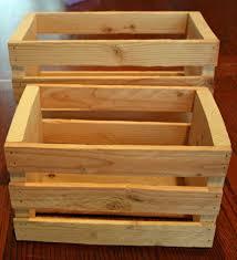 Handcrafted Idaho Knotty Pine Wood Slat Box Crate