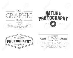 Photographer Badges And Labels In Vintage Style Simple Line Unique Design Retro Theme