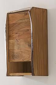 kawola badezimmer hänge schrank loft edge akazie massiv holz baumkante b h t 40x70x20cm