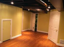 Floor Joist Size Residential by Exposed Floor Joists In Finished Lower Level Cool Basement Ideas