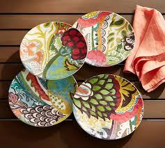 Fiji Melamine Salad Plates Mixed Set of 4
