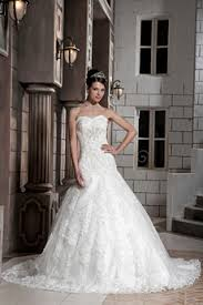 USD 26500 Magnificent Dropped Waist Ball Gown Lace Wedding Dress