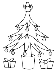 Christmas Tree Coloring Books by Christmas Tree Outline Christmas Tree Outline For Colouring In