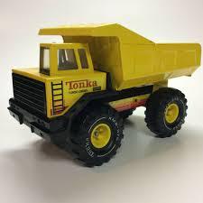 100 Vintage Tonka Truck Metal Yellow Dump XMB975 Turbo Diesel Pressed