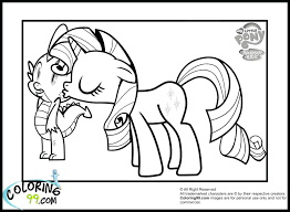 Mlp Fim Online Coloring Pages Pony My Little Rarity Printable Nightmare Moon Full Size
