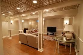 basement lighting drop ceiling basement inspiring