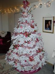 How To Decorate Christmas Tree Ideas Flocked A Wintry Look Of Your Decoration