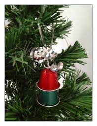 Christmas Ornaments From Used Nespresso Pods An Easy And Frugal Way To Make Tree Ribbon