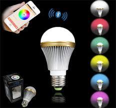 best bluetooth smart led light bulb e27 led 5w rgbw multicolor