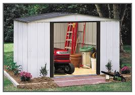 Arrow Woodridge Steel Storage Sheds by Arrow Newport High Wall Shed Np10867