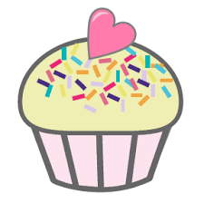 blue cupcake clipart