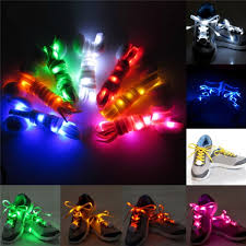 2pcs led shoelaces flat luminous shoelace for sneakers green