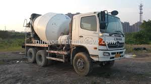 100 Concrete Truck Capacity Japan Good Diesel Engine Hino Cement Mixer Truck With 10cbm