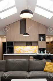100 Contemporary House Interior Livingroom Connected With Kitchen In Background Contemporary