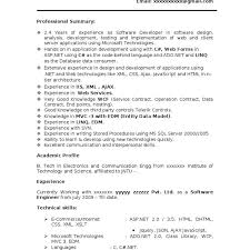 Sample Resume For Net Developer With 2 Year Experience Rh Nmdnconference Com