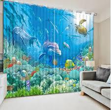 chambre dauphin moderne fenêtre rideaux pour chambre d enfants personnalisé photo