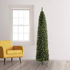 2 Pencil Artificial Christmas Tree 9 Feet Clear Lights