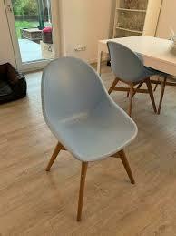 fanbyn ikea stuhl lounge sitz blau holz esszimmer sessel