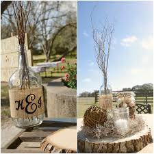 Barn Wedding Texas Burlap Centerpieces