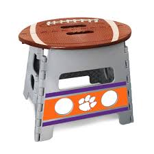Shop NCAA Clemson University Folding Step Stool - Free Shipping On ... Ncaa Chairs Academy Byog Tm Outlander Chair Dabo Swinney Signature Collection Clemson Tigers Sports Black Coleman Quad Folding Orangepurple Fusion Tailgating Fisher Custom Advantage Zero Gravity Lounger Walmartcom Ncaa Logo Logo Chair College Deluxe Licensed Rawlings Deluxe 3piece Tailgate Table Kit Drive Medical Tripod Portable Travel Cane Seat