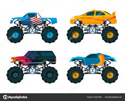 Set Big Monster Truck Cars. Vector Pictures Set — Stock Vector ... Monster Truck School Bus Yellow Big Wheels Toy Car Pull Back Kids Large Remote Control Rc Wheel Monster Truck 24 Beach Devastation Myrtle Whosale Foot Friction 4wd Pound Big Foot 4x4 16 Madwhips Filefun Spot America Fun 15272250754jpg Trucks From Around The World Cars Pinterest Stock Photo Picture And Royalty Free Image Bigfoot Number 17 Clubit Tv Hpi Savage Xl 59 Big Block Monster Truck Qatar Living 1964 Corvette By Samcurry On Deviantart Cheap Find Deals