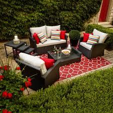 Threshold Heatherstone Wicker Patio Furniture by Shop Allen Roth Piedmont 4 Piece Patio Conversation Set At
