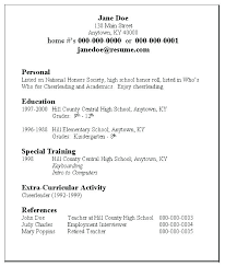 Applicant Resume Sample College Admissions Samples Application High School For