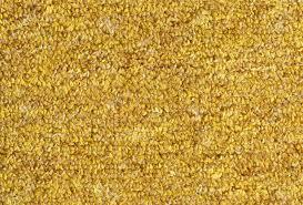 Carpet Texture Close Up Yellow Furry Background Stock Photo