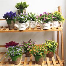 großhandel ein set mini topf bonsai sukkulente pflanzen hausgarten wohnzimmer schlafzimmer dekoration künstliche pflanzen blumen wudee 30 92