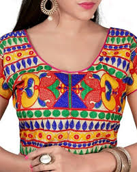 shop exclusive readymade cotton blouse in multicolour from simaaya