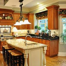 classic kitchen design with white painted kitchen island marble