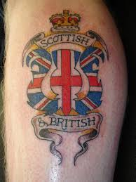 Scottish British Logo Tattoo On Arm