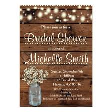 Rustic Bridal Shower Invitation Mason Jar Floral Card