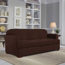 Stretch Slipcovers For Sofa by Serta Stretch Grid 2 Piece Slipcover For T Sofa At Brookstone U2014buy Now