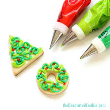 Decorating Christmas Cookies Simple Decorated Easy Wreath And Tree With Toddlers