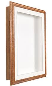 Oak Wood Framed Shadow Boxes 1 Deep