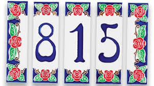 marvelous small ceramic house numbers modern ceramic house number