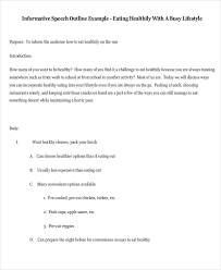 6 Speech Outline Examples Samples