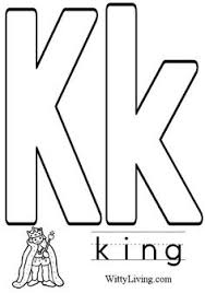 Coloring Pages Letter K