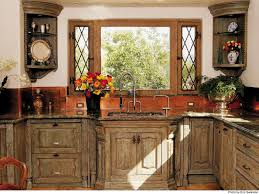Corner Kitchen Cabinet Decorating Ideas ideas for the affordable yet chic country kitchen cabinets amaza
