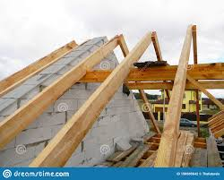 100 House Trusses Roof Top Wooden Frame Construction Unfinished