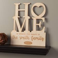 Home Is Where The Heart Personalized Wood Plaque