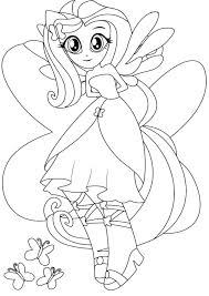 My Little Pony Equestria Girls Coloring Pages Twilight Sparkle Color