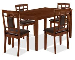 Aran 5 Piece Dining Package Dark Walnut