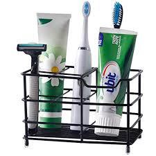 skoloo zahnbürstenhalter für elektrische zahnbürsten edelstahl zahnbürstenhalter für badezimmer waschbecken organizer schwarz