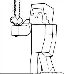 Minecraft Guy Coloring Pages Printable